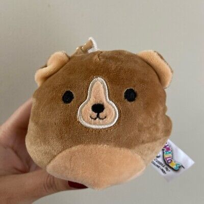 $ CDN18 • Buy SQUISHMALLOWS 3.5  9cm Plush BNWT Clip-on Greta The Brown Bear Canada Exclusive