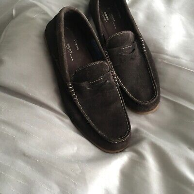 Mens Rockport Brown Suede Loafers Good Condition Size 8 • 20£