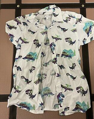 Boys Bluezoo Dinosaur Shirt Aged 3-4 • 0.99£