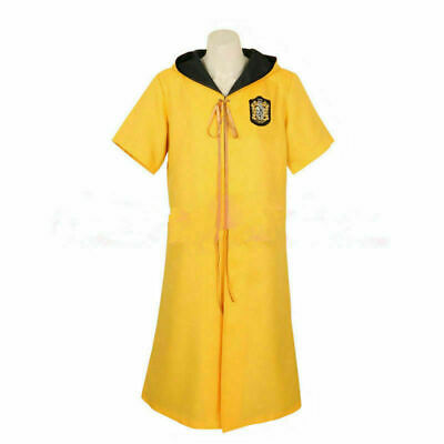 $ CDN65.56 • Buy Harry Potter Quidditch Robes Hufflepuff Yellow Color Cape Costume Cosplay