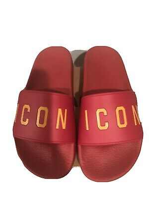 DSQUARED2 ICON Flip Flops, Size 7. Made In Italy • 50.65£