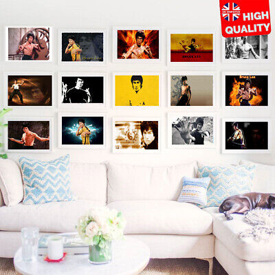 £3.99 • Buy Bruce Lee Kung Fu Martial Art Legend Classic Print Poster Wall Art Picture A4 +