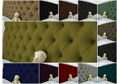 Luxury Upholstered Colchester Bed Headboard In Turin Fabric S D K SK 26  UK • 41.99£
