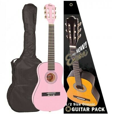 Encore 1/2 Junior Pink Guitar Outfit Children's Kids Junior Guitar Outfit  • 49£