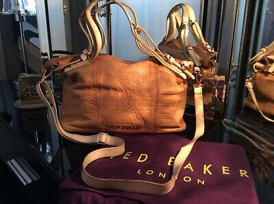 Ted Baker Tan Leather Messenger / Cross Body Bag With Dust Cover • 0.99£
