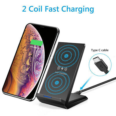 $ CDN17.76 • Buy 20W Fast Wireless Charger Stand Qi Charging Dock For IPhone 8 X XR 11/11 Pro