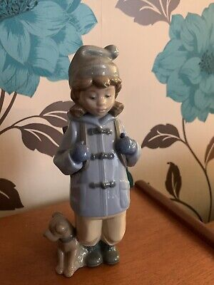 Nao By Lladro Boy With Backpack And  Dog  • 9.50£