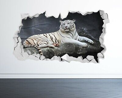 £14.99 • Buy White Tiger Wall Sticker 3d Look - Bedroom Lounge Nature Animal Wall Decal Z1182