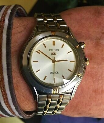 $ CDN140.87 • Buy Men's Seiko Dolce AGS Kinetic Automatic Watch Caliber 3M21 C/w Gold Tones