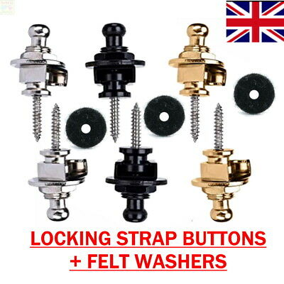 $ CDN5.24 • Buy Locking Strap BASS Guitar Secure Locks Button Fastener Screw Electric Replace