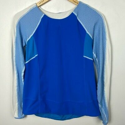 $ CDN78.30 • Buy Lululemon Bold In The Cold Long Sleeve Blue Run Womens Size 6 Running Top Tee