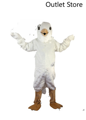£253.81 • Buy Halloween White Eagle Mascot Costume Cosplay Party Xmas Carnival Outifit Fursuit