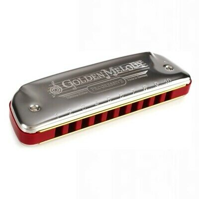 $55.38 • Buy Hohner Golden Melody Harmonica - Key Of Bb With Equal-tempered Tuning For Melody