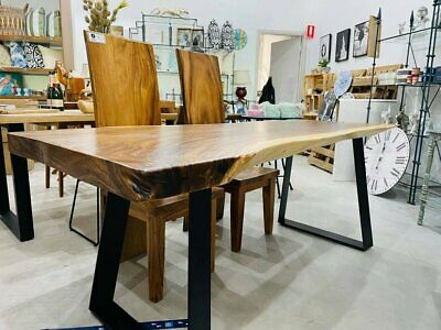 AU2650 • Buy Dining Table Solid Suar Rustic Wood