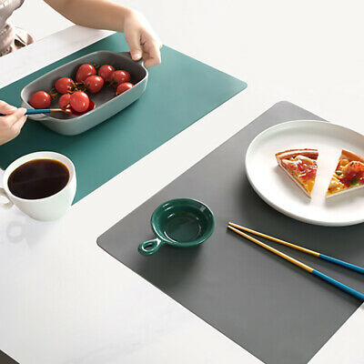 AU14.42 • Buy Nonslip Washable Silicone Kitchen Table Mat Placemat Heat Insulation Dining Pad