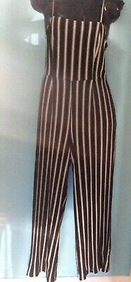 AU40 • Buy ATMOS & HERE Black & White Stripe Stretchy Jumpsuit Size 14