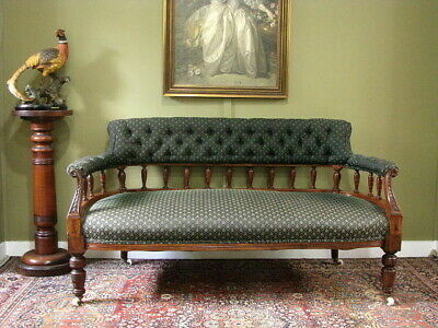AU750 • Buy ANTIQUE CARVED WALNUT SOFA SETTEE ~ SEE CO-ORDINATING PAIR ARMCHAIRS  C1880s