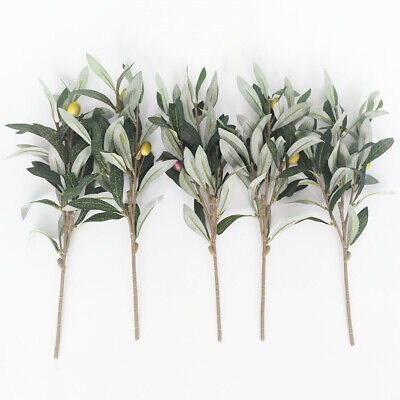 £2.50 • Buy Artificial Olive Tree Branches Olive Fruit Leaves Home Room DIY XMAS Decoration