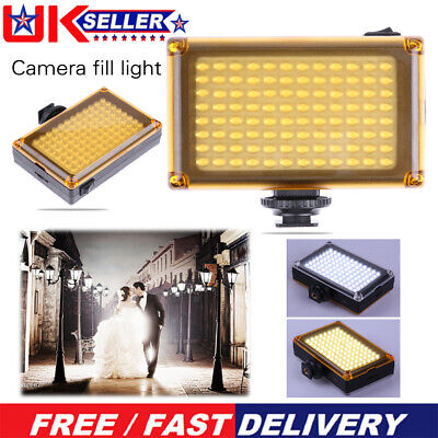 Bright 96 LED Studio Video Light For DSLR Camera Camcorder Photography Photo UK • 12.19£