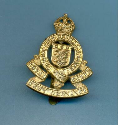 Royal Army Ordnance Corps 1914-47 Pattern.brass British Army Cap Badge • 6£
