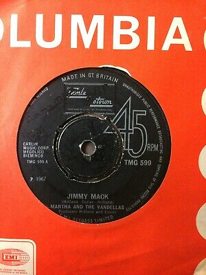 Classic 7  Vinyl Single Record By Martha Reeves And The Vandellas - Jimmy Mack • 4.99£