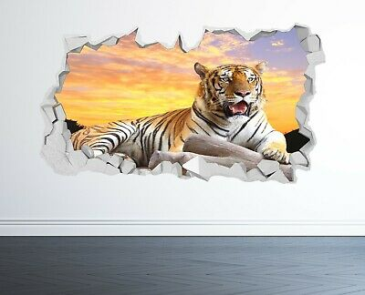 £14.99 • Buy Tiger Wall Sticker 3d Look - Bedroom Lounge Nature Animal Wall Decal Z1207