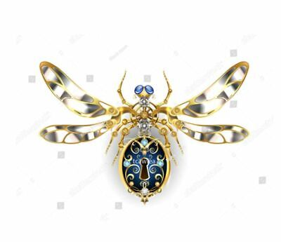 £11.50 • Buy Dragonfly With Lock & Keyhole Steampunk Metal  Die Cutter