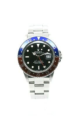 $ CDN13888.61 • Buy Rolex Gmt Master 16750 Stainless Steel Case Black Dial Pepsi Turn Bezel 40 Mm