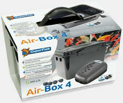 £12 • Buy Superfish Air Box Pond Air Pump Aeration Kit With Airline Airstone