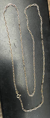 """£250 • Buy 9ct Yellow Gold 24"""" Anker Link Chain 375 9 Carat"""