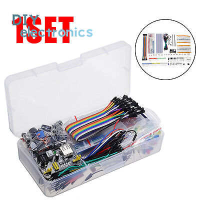 Electronic Component Kit Wires Breadboard LED Resistor Transistor US • 9.18£