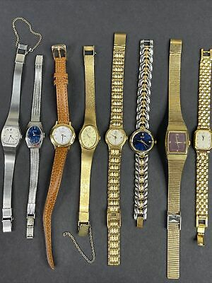 $ CDN12.67 • Buy Seiko Wrist Watch Lot Of 8 Watches Womens Quartz Vintage - Classy Well Made
