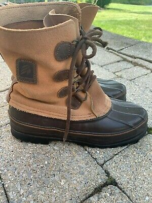 Lacrosse Waterproof Duck Boots Insulated Liner Mens Brown Leather Size 8 USA  • 36.17£