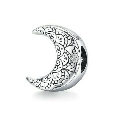 AU25.99 • Buy SOLID Sterling Silver Vintage Crescent Moon Charm By Pandora's Wish