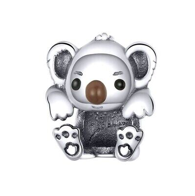 AU25.99 • Buy SOLID Sterling Silver Cuddly Climbing Koala Charm By Pandora's Wish