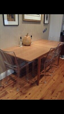AU1000 • Buy Solid Oak Dining Table Original 60's Danish Seats 8 With Leaf In Good Condition.
