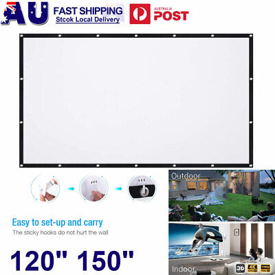 AU22.99 • Buy 120  150  Foldable Projector Screen Portable Outdoor Home Movie Cinema 16:9 HD