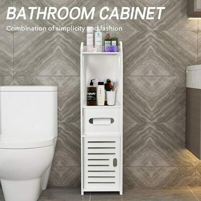AU59.04 • Buy Toilet Roll Holder Toilet Paper Roll Holder With Slim Shelf Over Toilet Storage