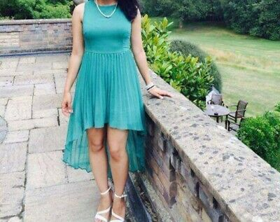 Gorgeous High-low Emerald Green Prom/ Party Dress, Size 10 • 3.99£