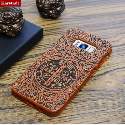 $ CDN17.64 • Buy Bamboo Wood Carved Phone Case Fitted Cover Skin For Samsung Galaxy S9+ Note 5