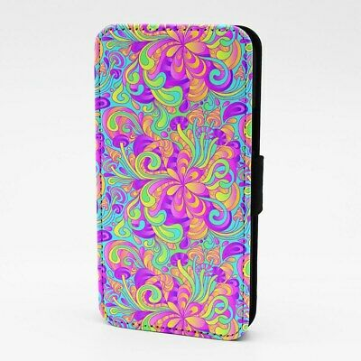 £4.95 • Buy Case For IPhone Samsung Galaxy Flip Phone Cover Trippy Hippy Illusion Psychedlic