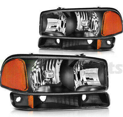 $75.47 • Buy Fits 1999-2007 GMC Sierra Headlights Assembly Driver + Passenger Side Set