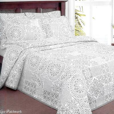 ShawsDirect Lace Patchwork Bedspread • 23.95£