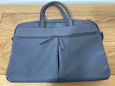 Knomo London Mayfair Hanover Laptop 14'' Briefcase Trolley Bag Grey ,NOT USED • 35£