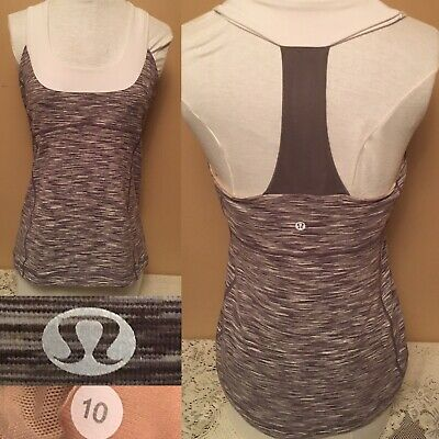 $ CDN24.99 • Buy Lululemon Scoop Neck Tank Top Wee Are From Space Dusty Rose Women Size 10 Fit 8