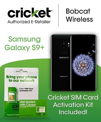 $ CDN252.72 • Buy Samsung Galaxy S9+ Plus G965U Black Bonus Cricket Wireless Phone SIM Card Kit