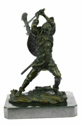 £182.15 • Buy Handcrafted By Lost Wax Norse God Odin Bronze Patina Statue Viking Pagan