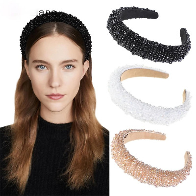 $ CDN10.99 • Buy Baroque Crystal Bead Headband For Women Girls Hair Bands Beaded Hair Accessories