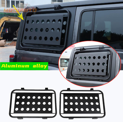AU515.82 • Buy Fit For Jeep Wrangler JL 2018-21 Aluminum Alloy Rear Window Glass Armor Cover 2x