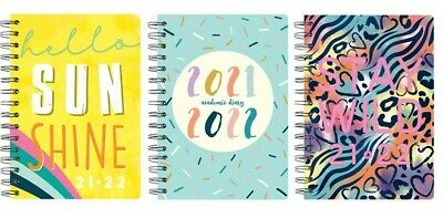 £3.59 • Buy 2021-2022 A5 Week To View Academic Diary Soft Back Wiro Student Teacher Diary